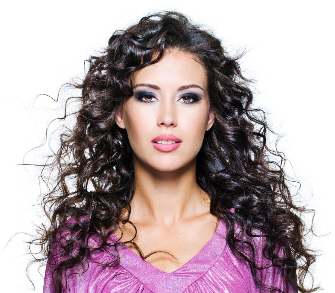 Face Of A Beautiful Brunette Woman